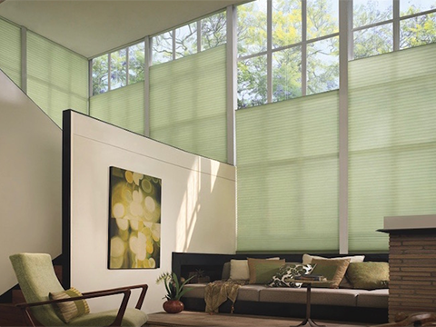 Motorized Duette® Architella®<br> Honeycomb Shades
