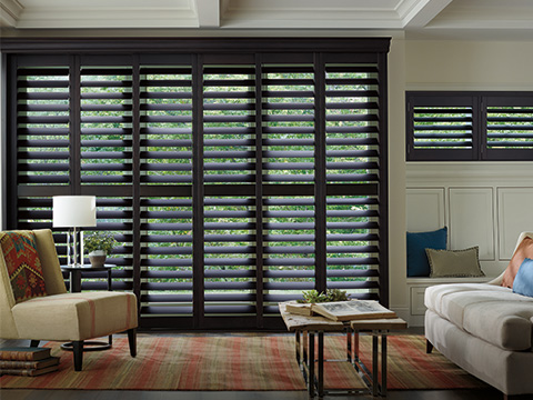 Heritance® Hardwood Shutters with By-pass Track system