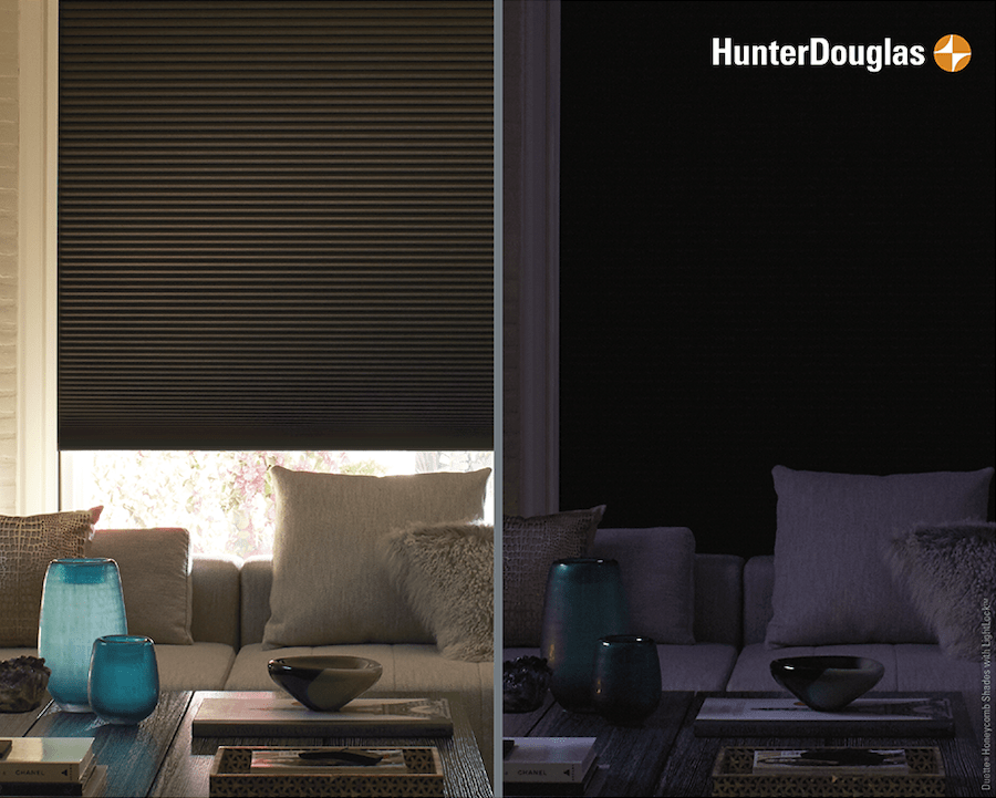 Hunter Douglas Duette® Honeycomb Shades with the LightLock™ System Feature for Total Darkness in Andover, MN