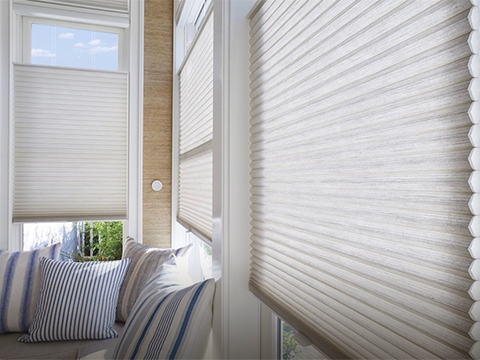 Motorized Duette®<br> Honeycomb Shades