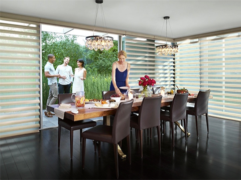 Motorized Pirhouette®<br> Window Shadings
