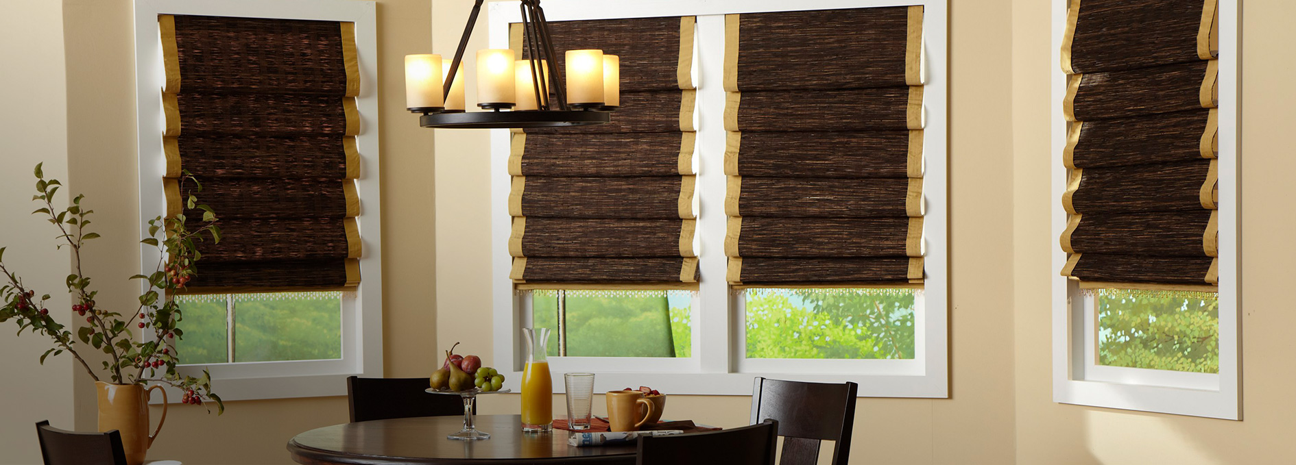 Today S Window Fashions Horizons Natural Woven Hobbled Roman Shades